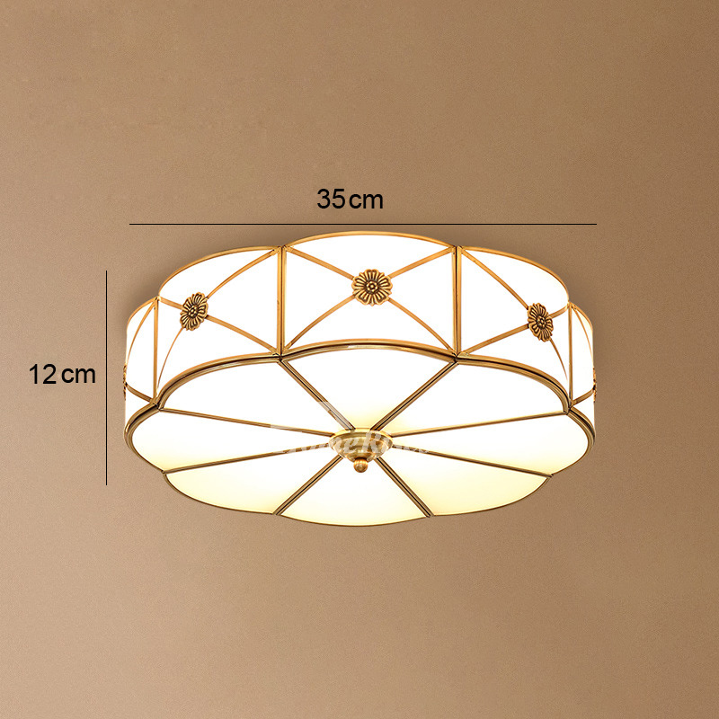 Bedroom Light Fixtures: Bedroom Ceiling Lights Brass Glass Flush Mount Living Room