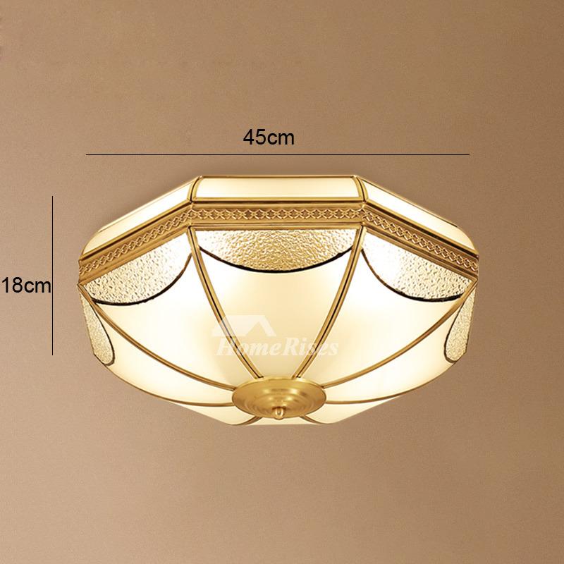 Flush Mount Ceiling Light Fixtures Brass Glass 3 4 Light