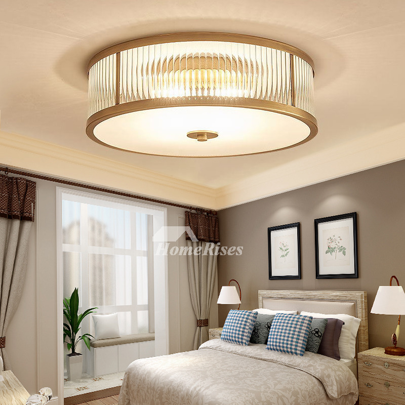 Bedroom Ceiling Lights Lowes Bedroom Paint Colors Dark Furniture Bedroom Curtains 2016 Neon Lighting Bedroom: Ceiling Mount Light Fixture Glass Flush Brass Gold Drum