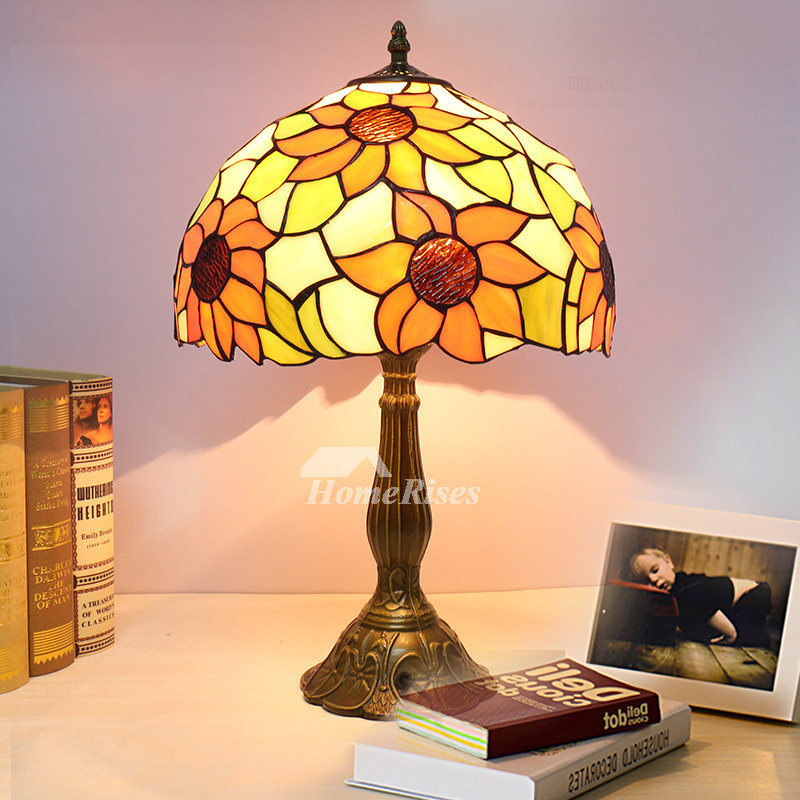 Tiffany Table Lamps Style House Bedroom Stained Glass