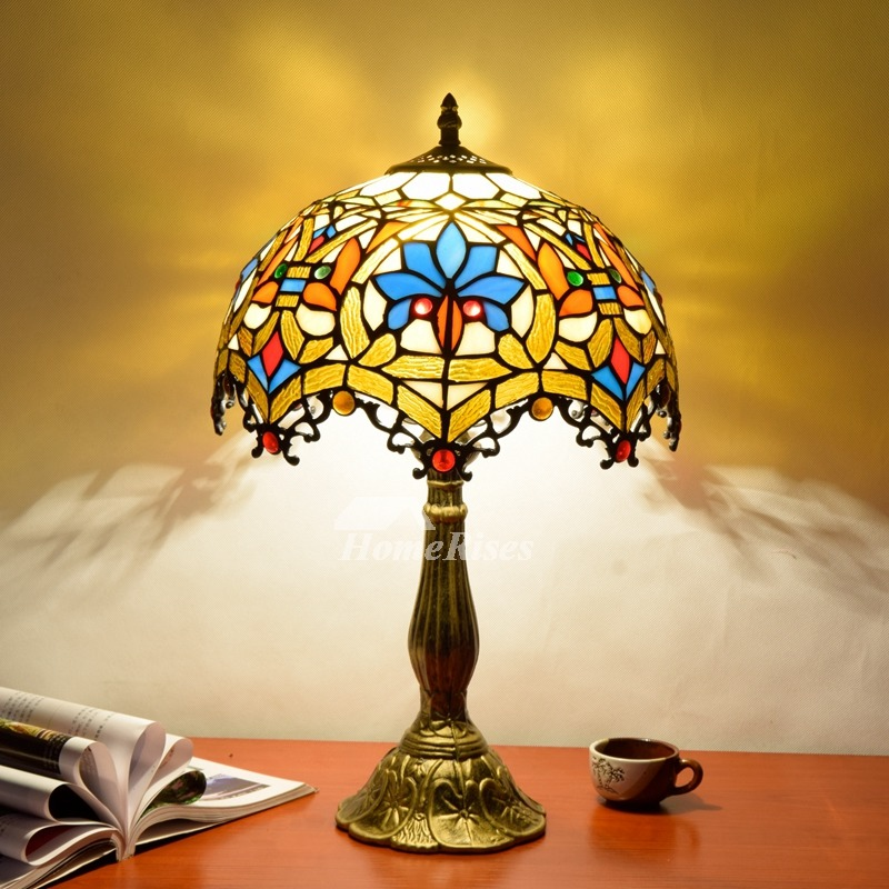 Tiffany Dragonfly Lamp Stained Glass Alloy Fixture Style