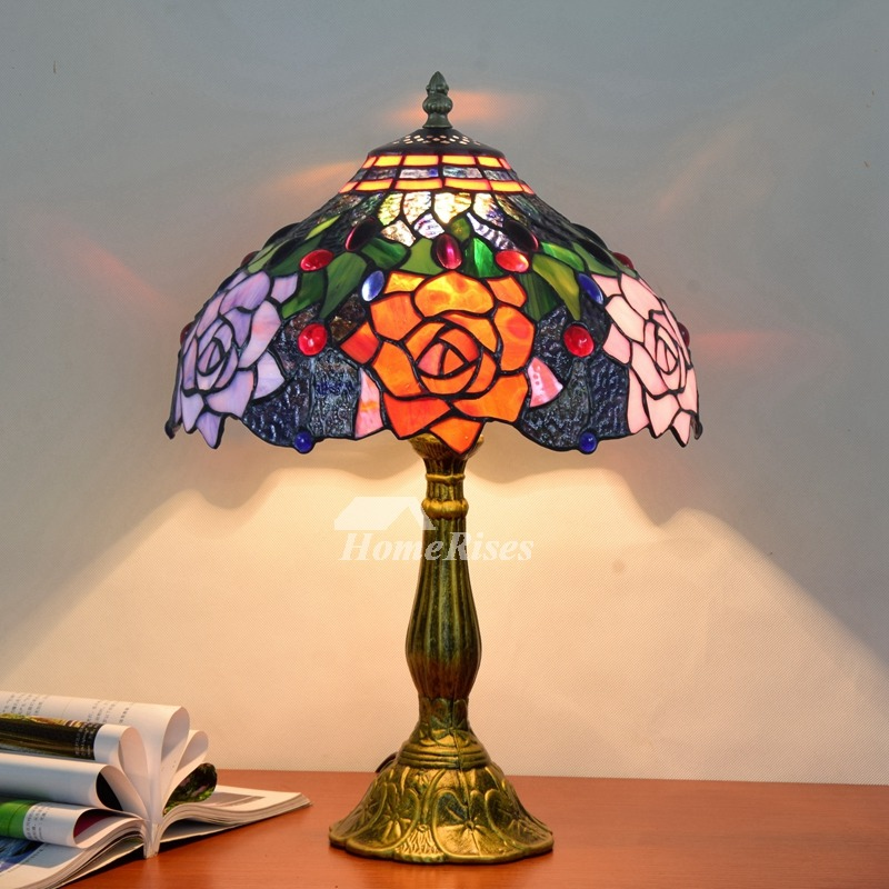 Tiffany Style Table Lamp Beautiful Vintage Stained Glass Lighting Fixture - Tiffany Style Table Lamp Beautiful Vintage Stained Glass Lighting