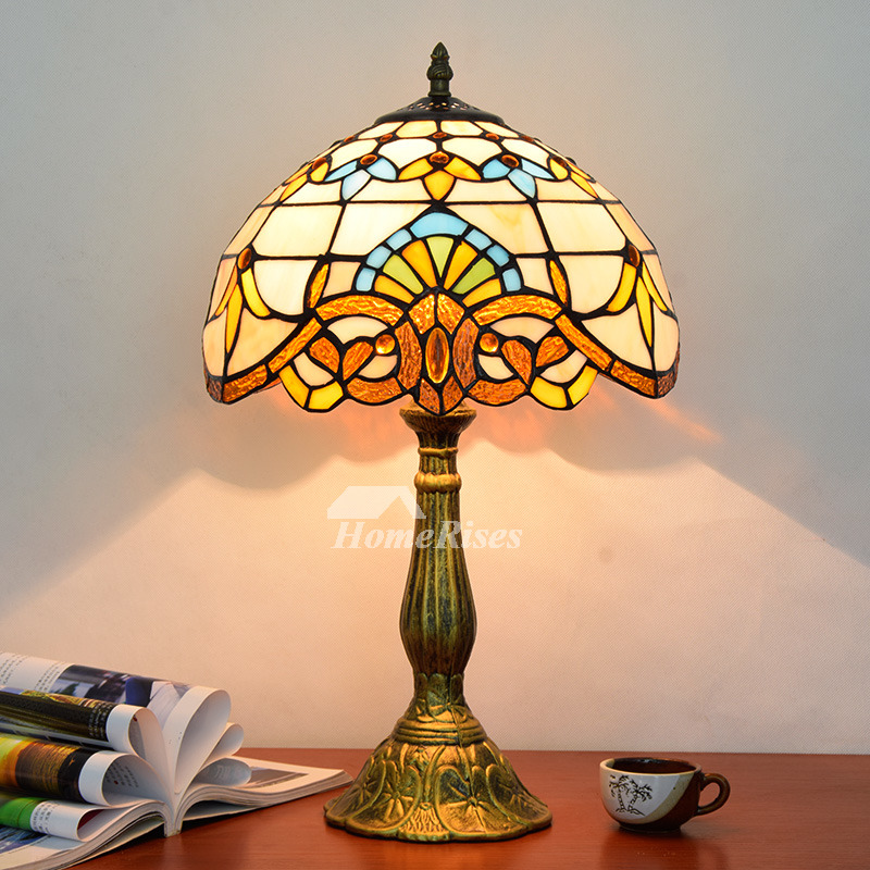 Tiffany Style Table Lamp Beautiful Vintage Stained Glass Lighting Fixture