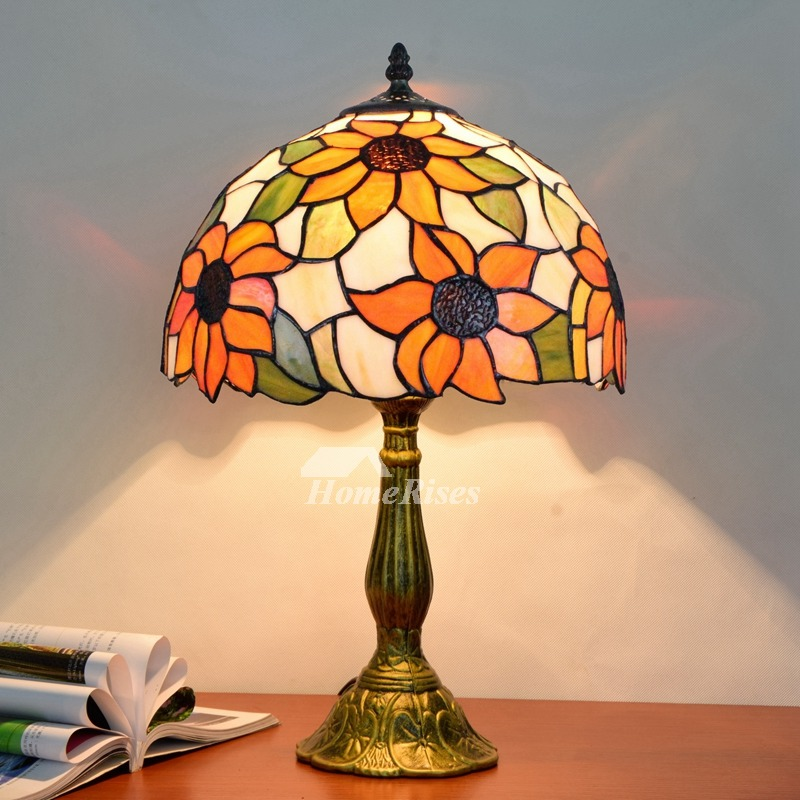 Tiffany table lamp carved stained glass alloy bedroom fixture style aloadofball Image collections