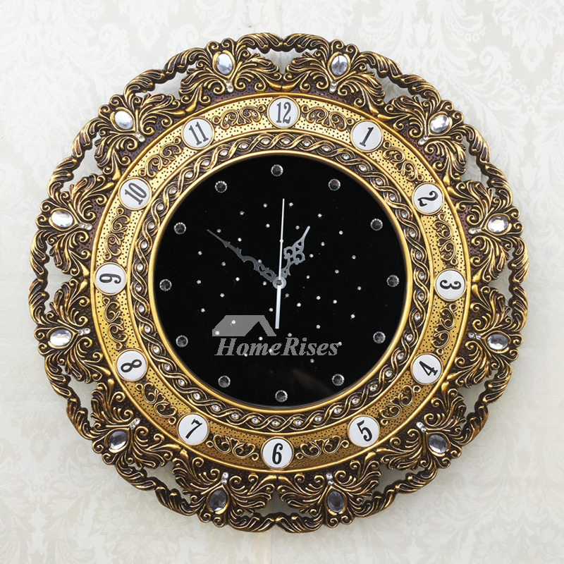 Gold Wall Clock Silver Luxury 22 Inch Oversized Analog