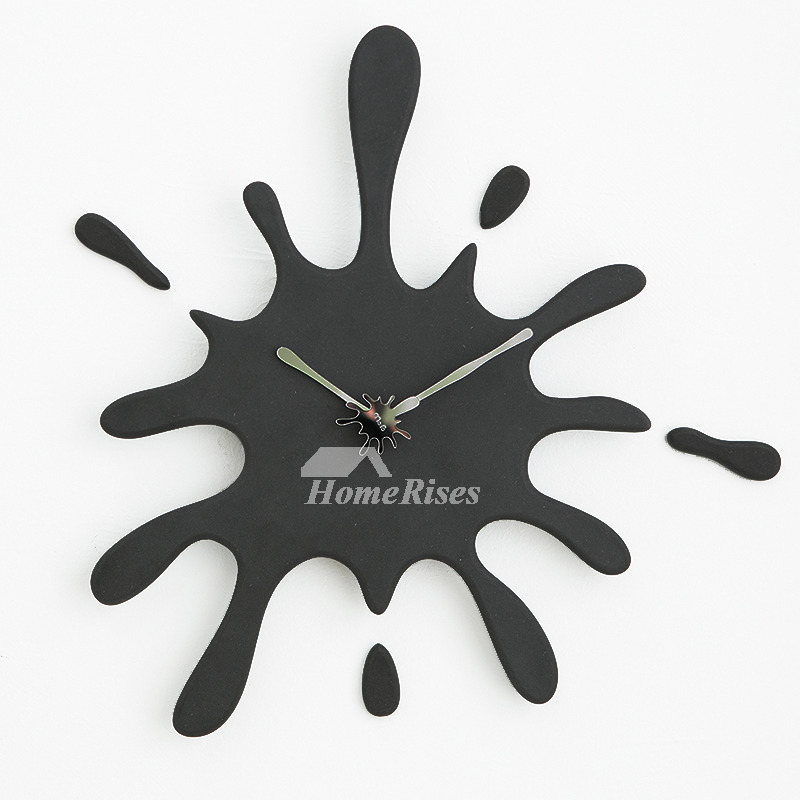 Cool Clocks Wooden 20 Inch Oversized Black Red Kitchen