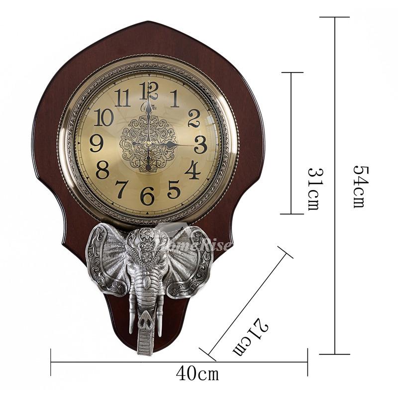 Personalized Wall Clocks Antler Resin Glass Art Deco Bedroom Rustic