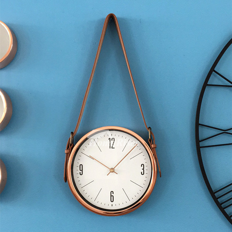 Personalized Wall Clocks 10 12 15 Inch Unique Metal Round