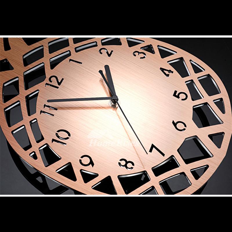 Long Wall Clocks Stainless Steel Pendulum Rose Gold Silver