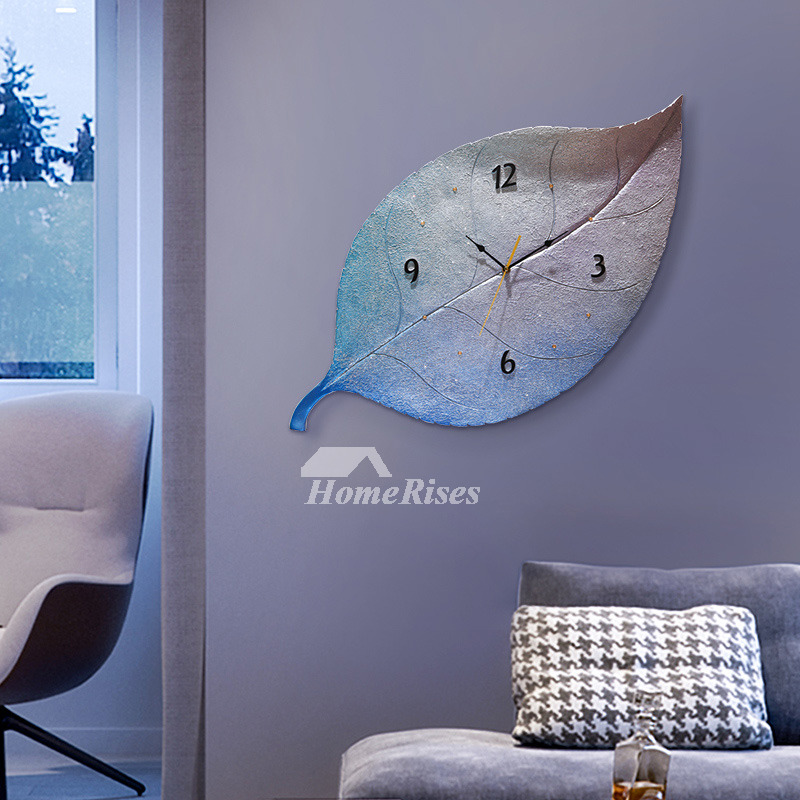 Novelty Wall Clocks Oversized Resin Leaf Personalized