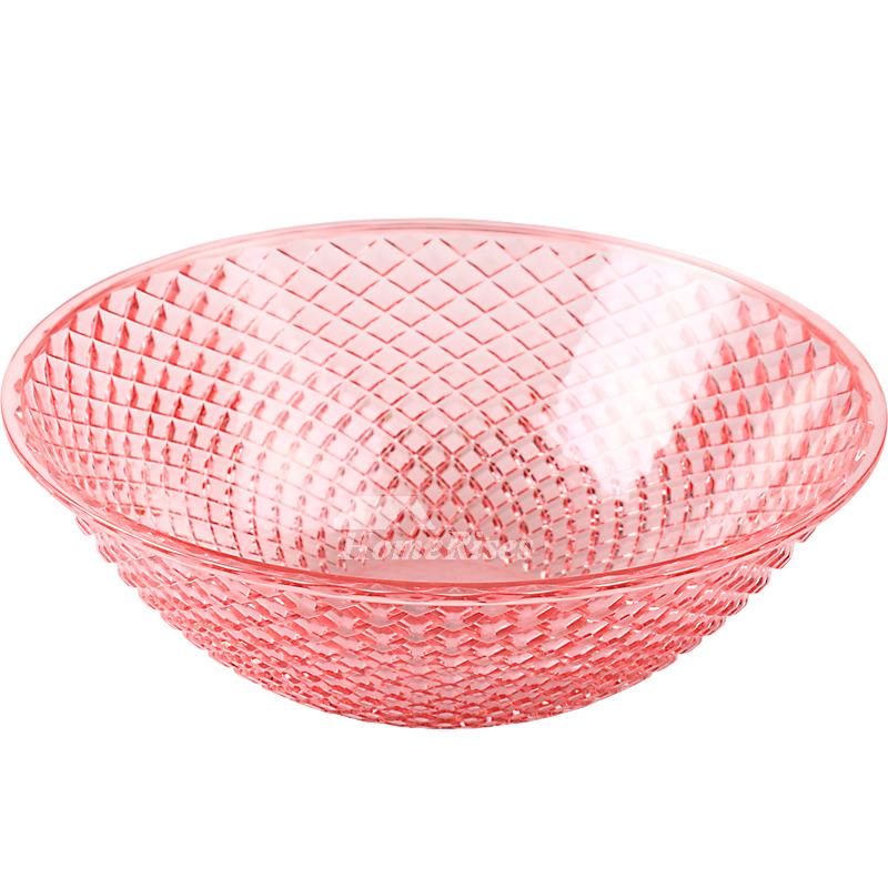 Pink Fruit Bowl 2 Pcs Plastic Decorative Best Kitchen Large Modern