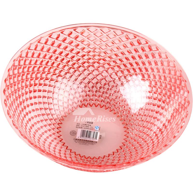 Pink Fruit Bowl 2 Pcs Plastic Decorative Best Kitchen