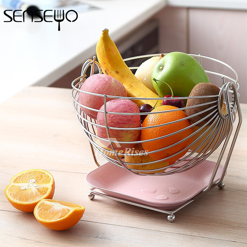 Decorative Fruit Bowl Stainless Steel Large Modern Best