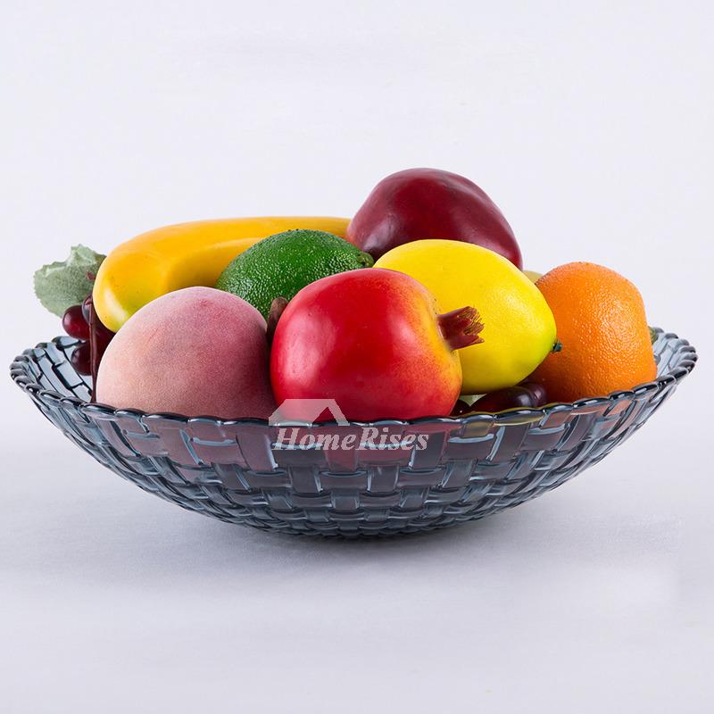 Decorative Fruit Bowl Plastic Red Blue Best Leaf Modern Kitchen