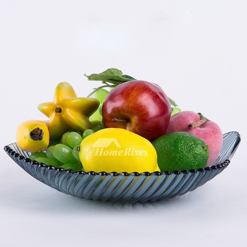 Decorative Fruit Bowl Plastic Red Blue Best Leaf Modern