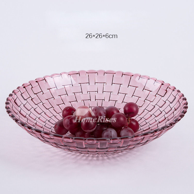 Red Fruit Bowl Blue Plastic Kitchen Breakfast Decorative Best