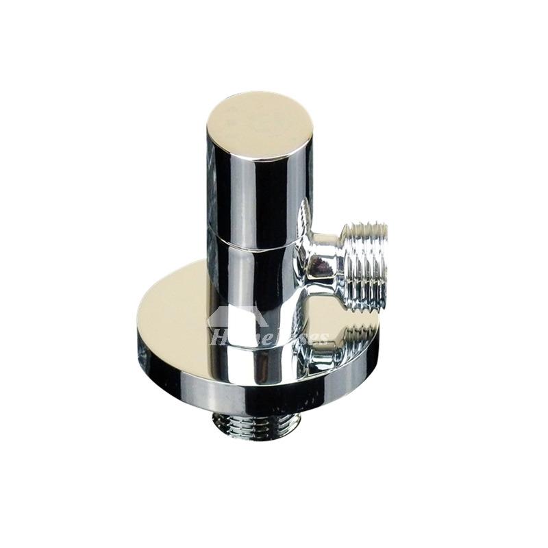 Ltj Modern Angle Stop Valve Faucet Toilet Silver Brass Chrome Bathroom