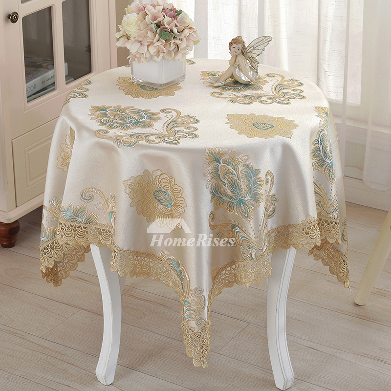 Table Cloth Small Square Polyester Jacquard Spring Wedding