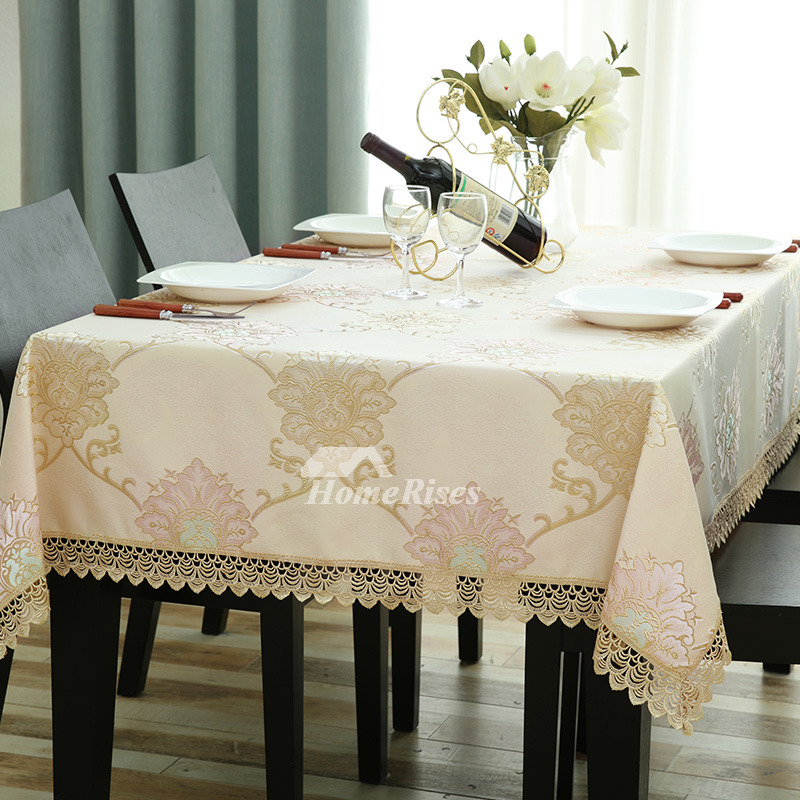 Dining Room Tablecloths: Vintage Tablecloths For Sale Yellow Polyester Lace Picnic
