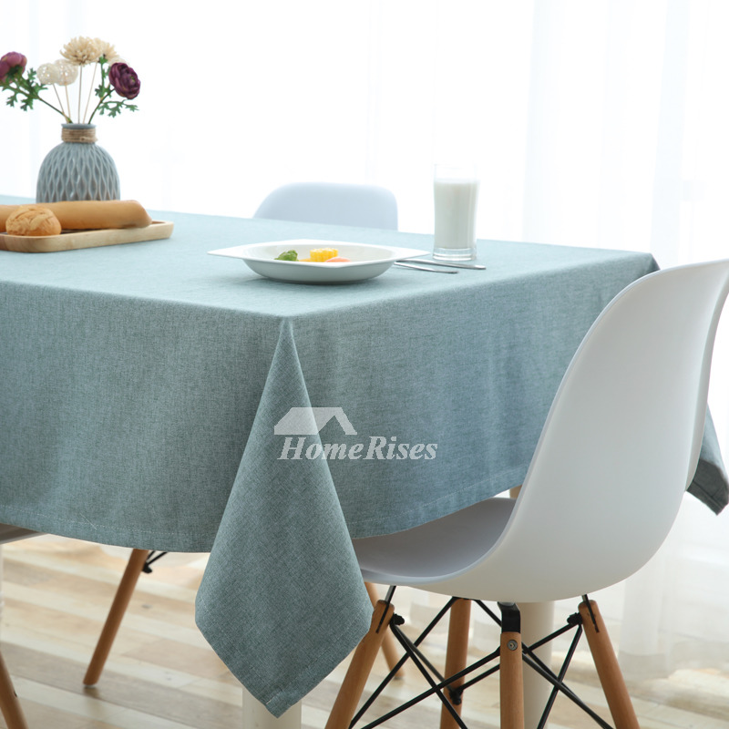 Dining Room Tablecloths: Vintage Tablecloth Dining Room Blue/Green/Pink/Navy Cotton