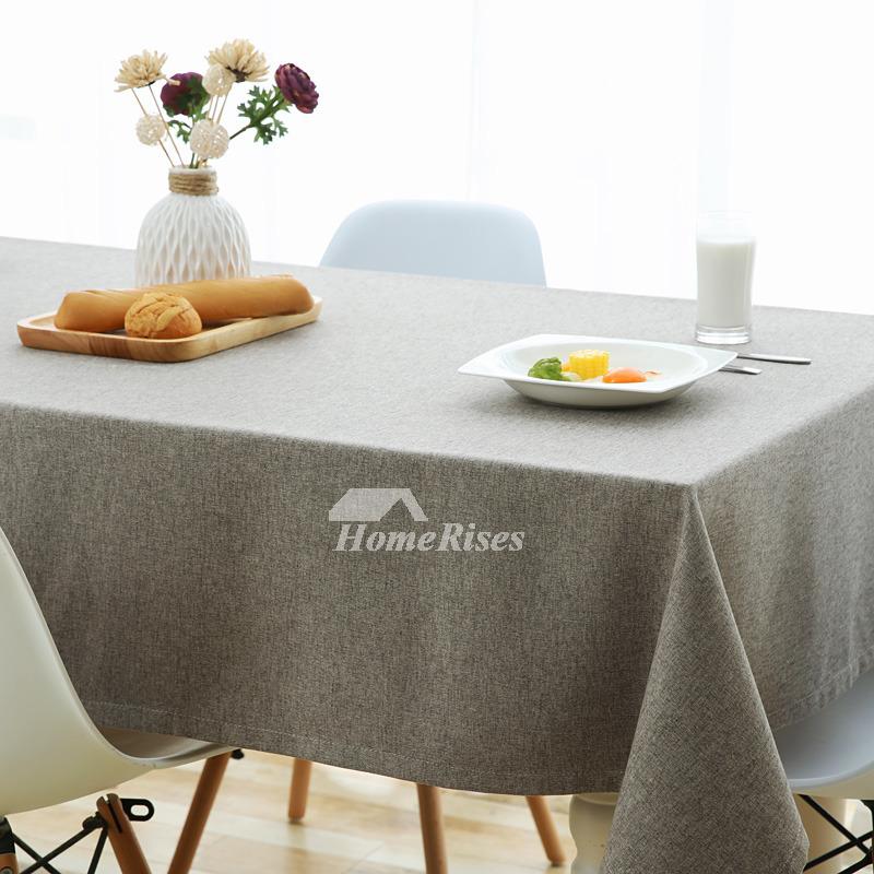 Cheap Dining Room: Cheap Tablecloths Linen Cotton Gray/Khaki/Orange Dining Room