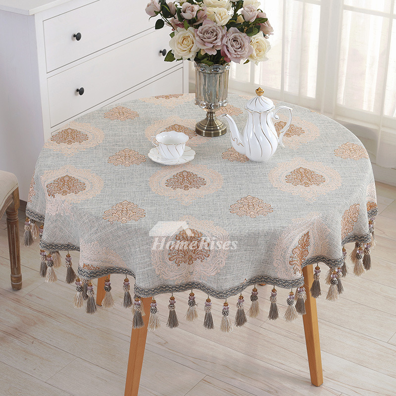70 Inch Round Table Cloth.Rustic 70 Inch Round Tablecloth Blue Linen Cotton Discount Elegant