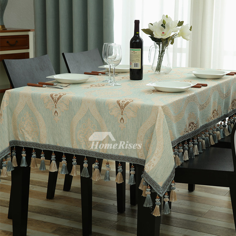 Elegant Tablecloths Polyester 70 Inch Modern Spring Oblong