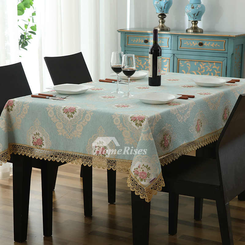 Cheap Cloth Tablecloths Rectangle Square Polyester Lace Dining