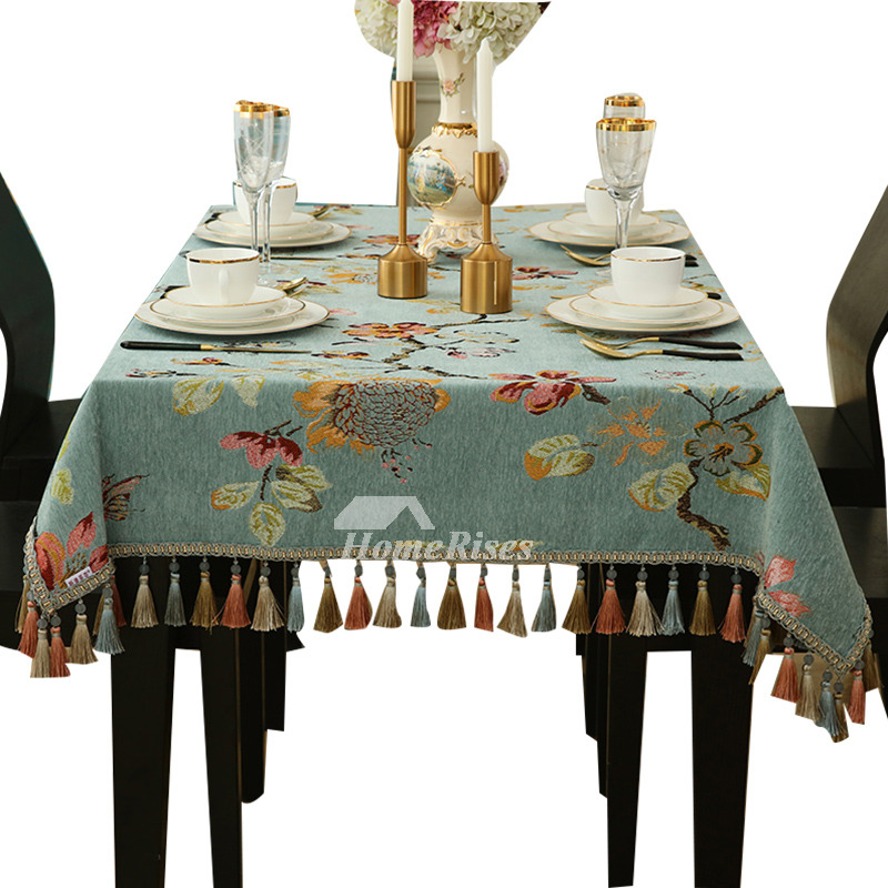 Blue Tablecloth Cheap Wholesale Fabric Picnic Vintage