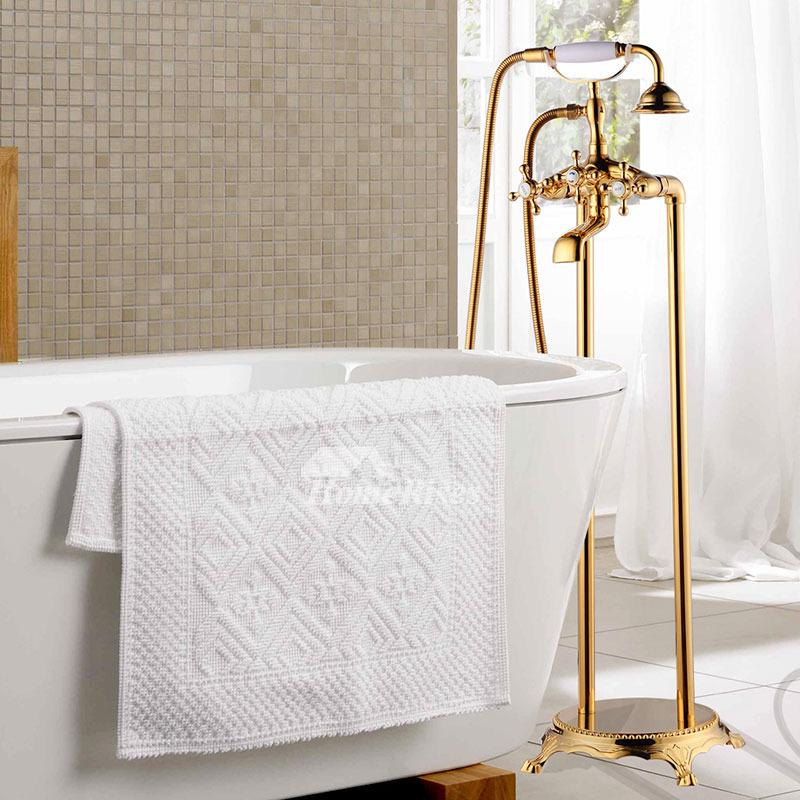Antique Brass Floor Standing Clawfoot Bathtub Faucet Black