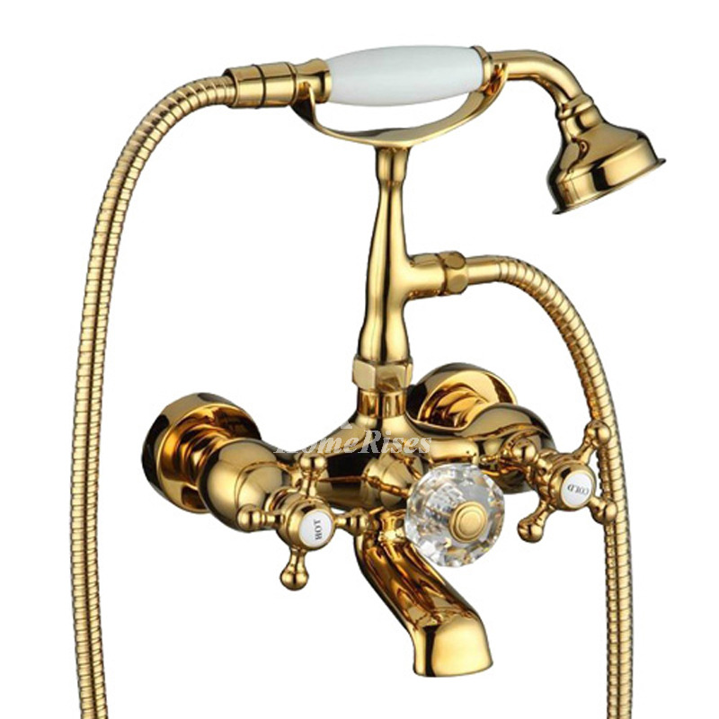 Wall Mount Bathtub Faucet Gold/Silver/Rose Gold Clawfoot Luxury