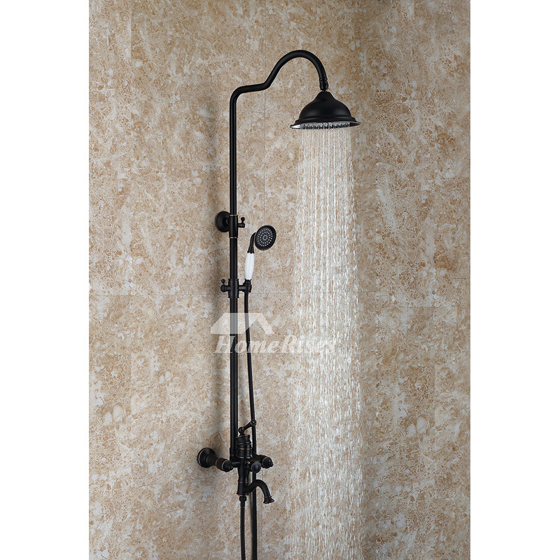 Luxury Black Shower Faucet Oil Rubbed Bronze Polished