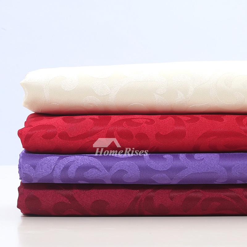 Cloth Tablecloths Red/Purple/White Round 70 Inch Polyester ...