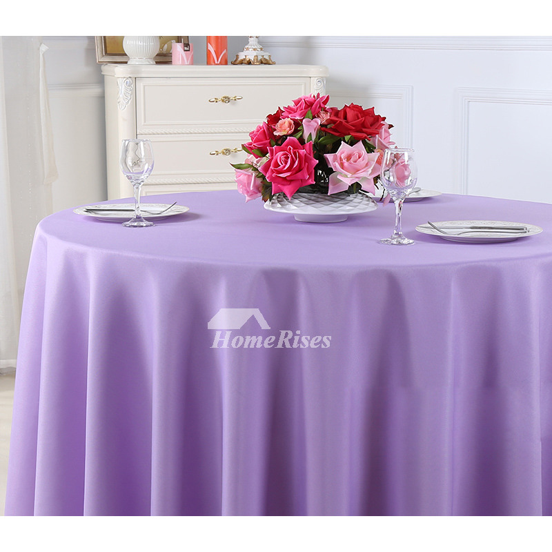 Outdoor Tablecloth Beige Purple Green 70 120 Inch Round