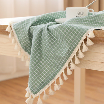 Cotton Linen Square Tablecloth