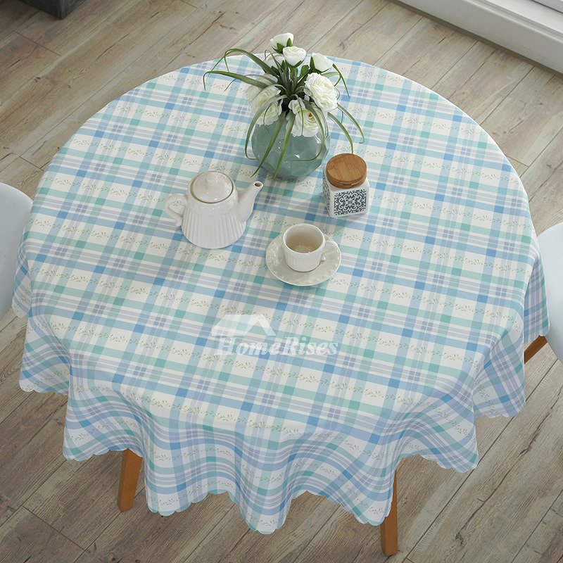Wholesale Tablecloths Floral Cotton Linen Round 70 Inch