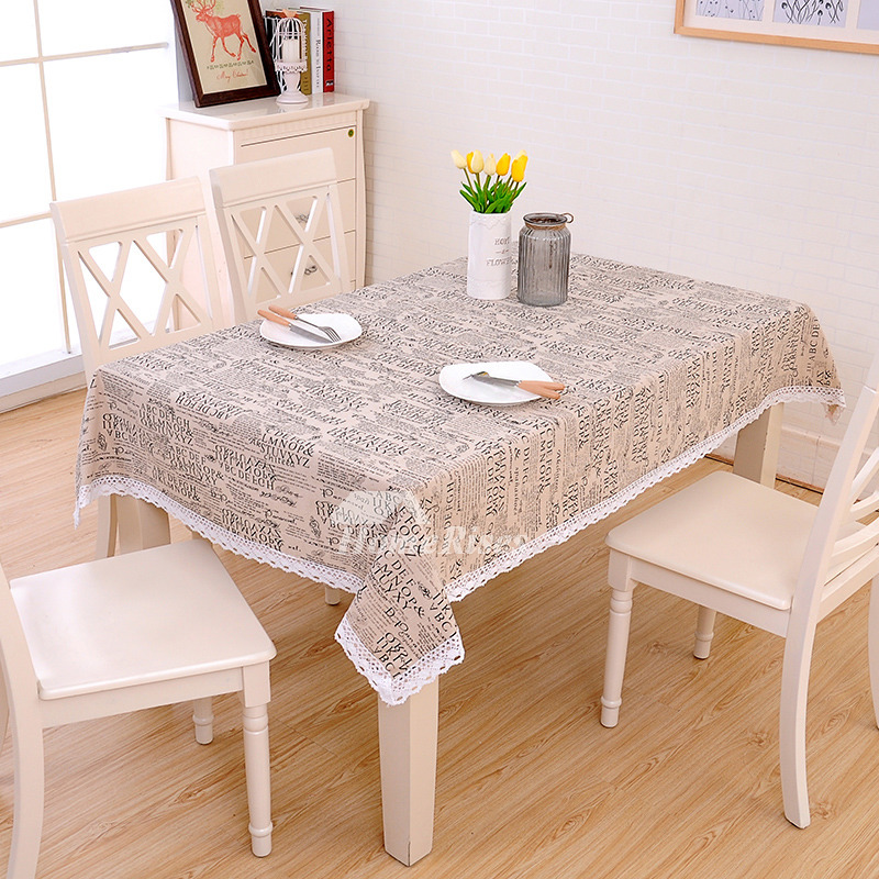 Fabric Tablecloths Cotton Linen Oblong/Square For Sale