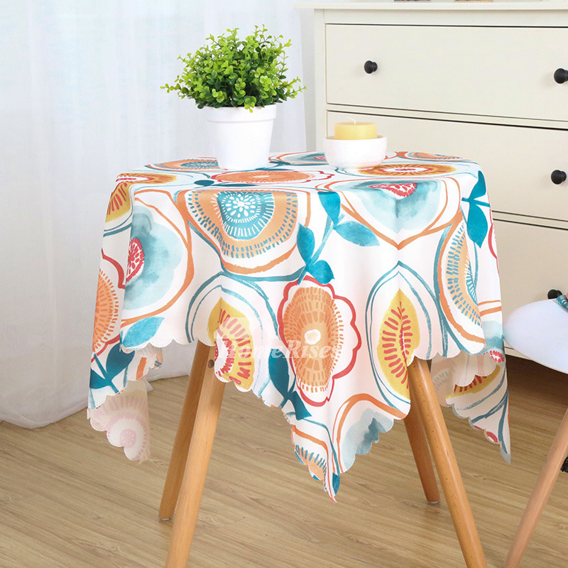 Cheap Tablecloths Polyester Waterproof Printed Dining Room