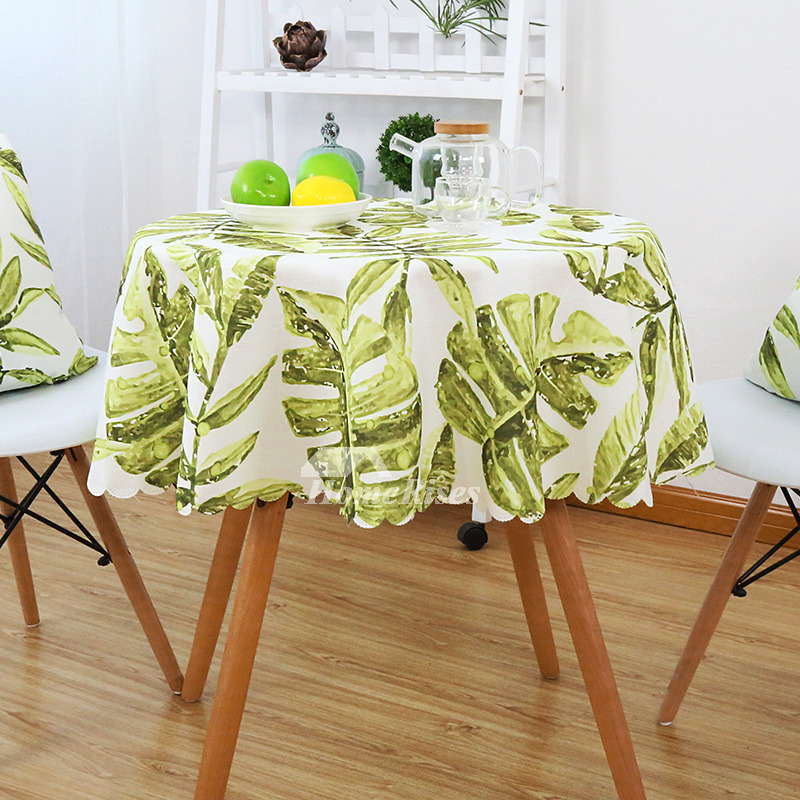 70 Inch Round Table Cloth.Yellow Rectangule Round Tablecloths Tropical Polyester 70 Inch Waterproof