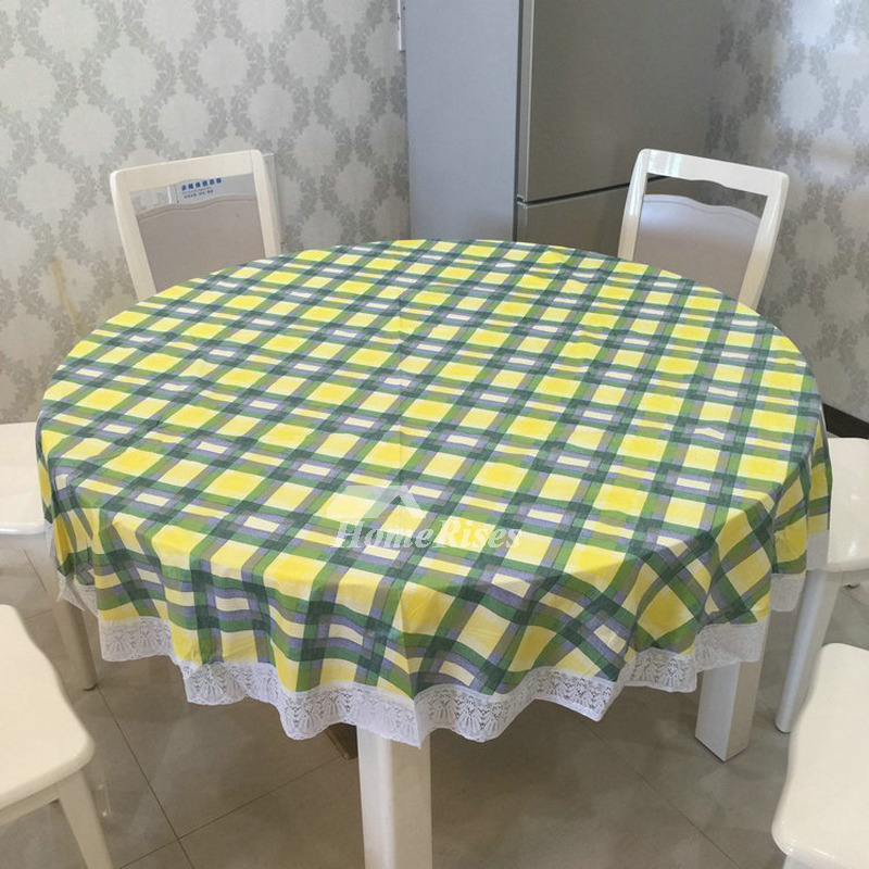 Waterproof Tablecloth Pvc Round 70 Inch Cheap Wholesale