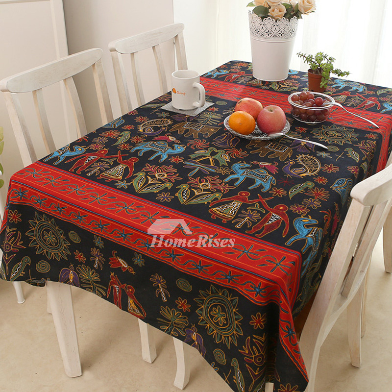 Dining Room Tablecloths: Rectangule/Square Vintage Tablecloths Linen Cotton Dining Room