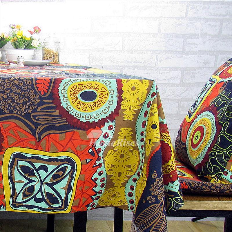 Rectangule Square Vintage Tablecloths Linen Cotton Dining Room