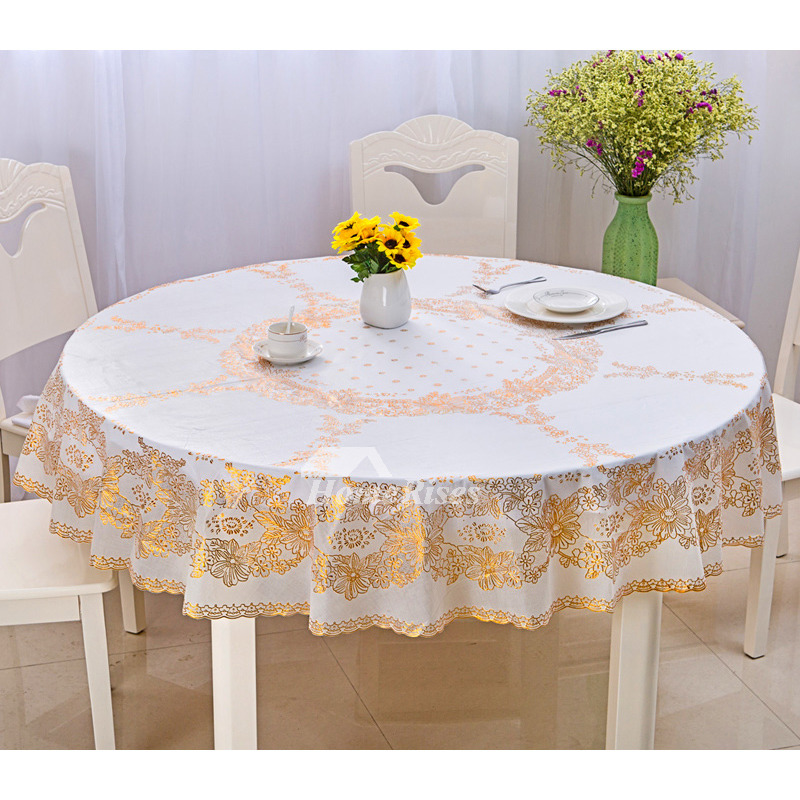 quality pvc gold coffee table cloth yellow waterproof. Black Bedroom Furniture Sets. Home Design Ideas