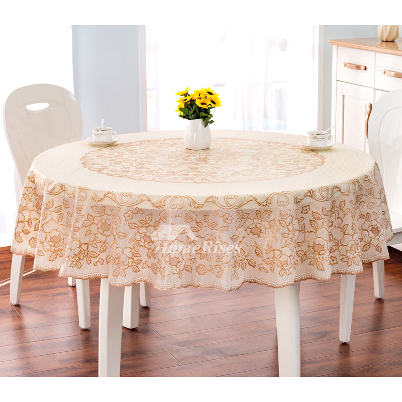 Quality Pvc Gold Coffee Table Cloth Yellow Waterproof Kitchen Best