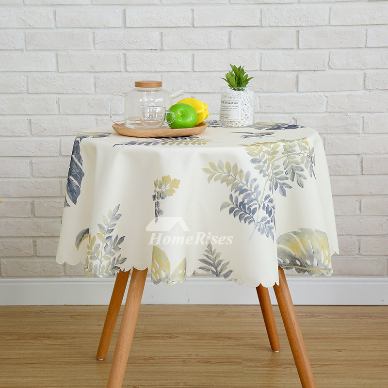 Modern Printed Polyester Round 70 Inch Sale Fabric Tablecloths
