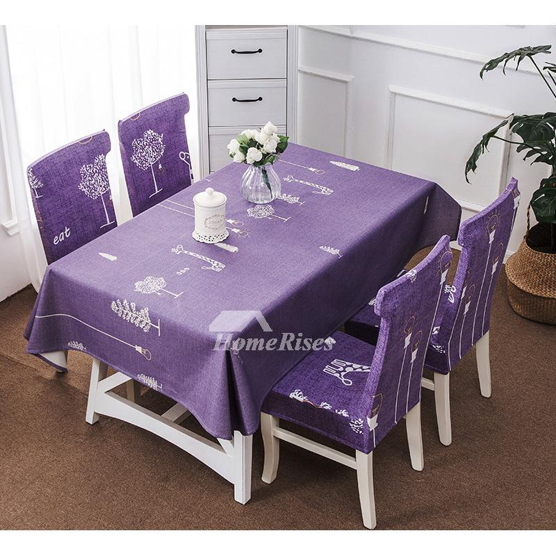Pink Tablecloth Purple Green Cotton Linen Waterproof Cheap