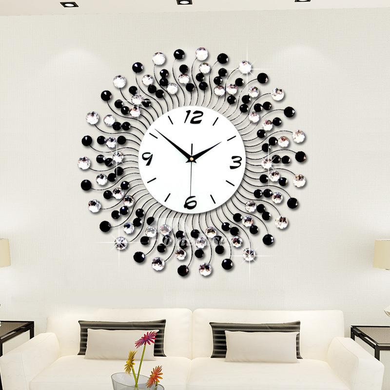 Modern Decorative 20 Inch White Black Blue Unique Large Wall Clock