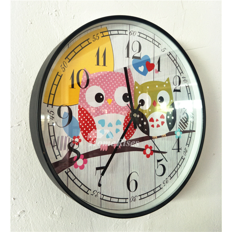 Wooden Wall Clock Cheap Living Room Childrens Country 12