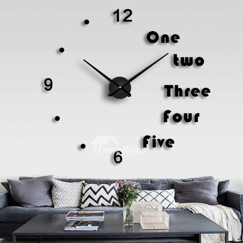 Oversized Wall Clock Decorative Mirror Creative Acrylic