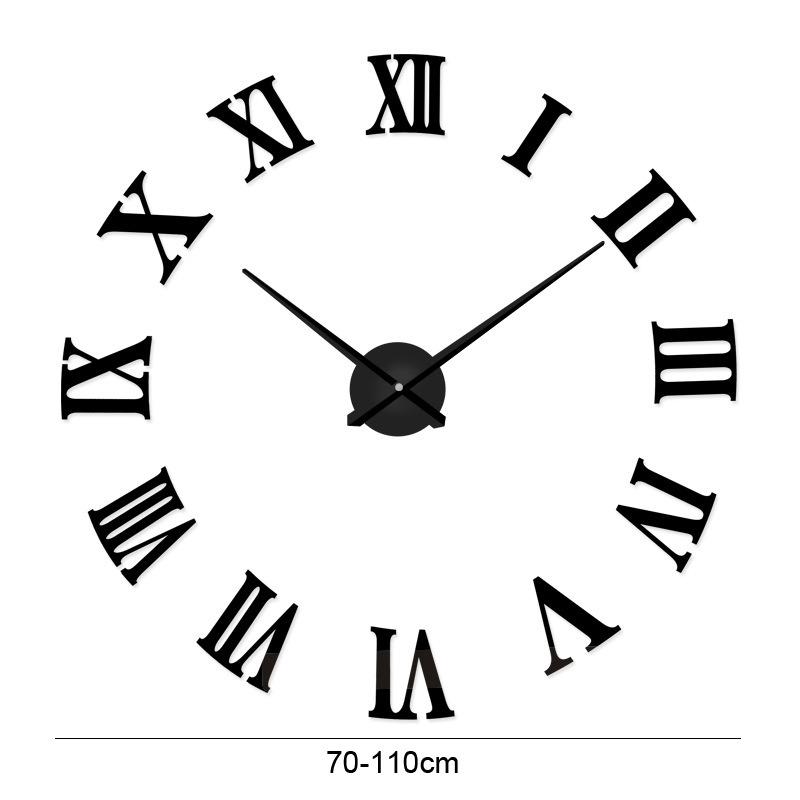 acrylic roman digital wall clock simple decoration diy wall sticker